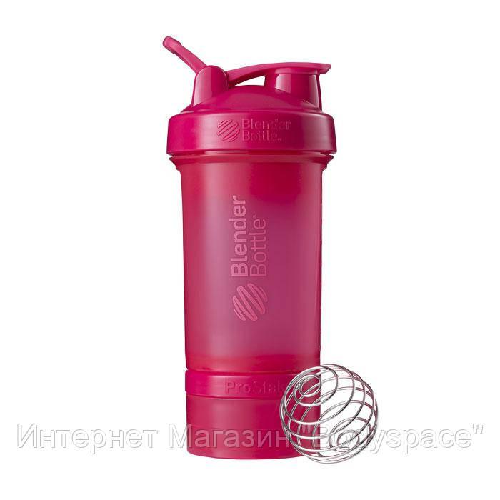 Blender Bottle, Спортивний шейкер ProStak Pink, 650 мл, Рожевий, 650 мл