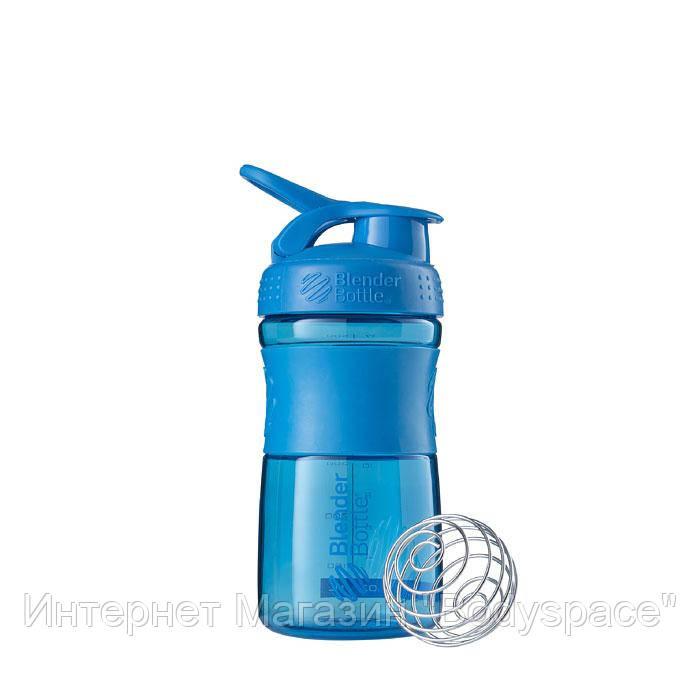Blender Bottle, Спортивний шейкер-пляшка SportMixer Cyan, 590 мл, Синій, 590 мл