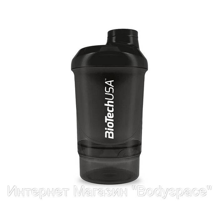 Biotech USA, Спортивний шейкер Wave+ Nano Shaker 300ml (+150ml) Panther Black