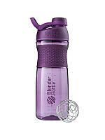 Blender Bottle, Спортивна пляшка-шейкер з віночком SportMixer Twist 28oz/820ml Plum, Сливовий, 820 мл