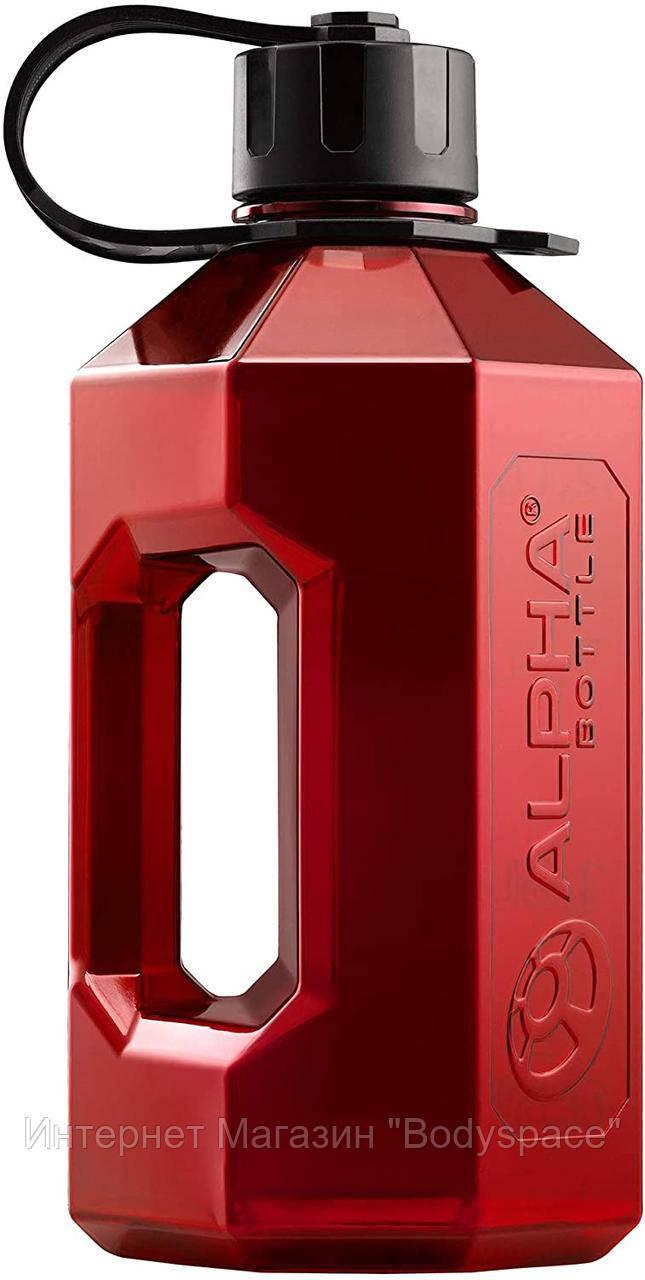 Alpha Designs, Бутылка для воды XXL Water Jug Red/Black, 2400 мл, Красный/черный, 2400 мл