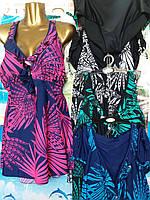 Купальник женский сарафан с трусами размер батал 60-68,цвет уточняйте при заказе