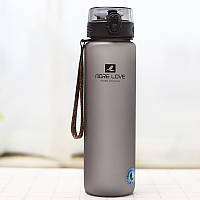 Casno, Бутылка для воды MX-5041 More Love 1050 мл Grey, Серый, 1050 мл, фото 1