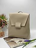 Жіноча стильна сумка; турецька еко-шкіра PU, розміри 29*34*11 см, 4 кольори, фото 5