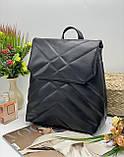Женская стильная сумка; турецкая эко-кожа PU, размеры 25*30*12.5 см, 3 цвета, фото 3
