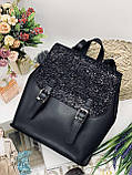 Женская стильная сумка; турецкая эко-кожа PU, размеры 25*28*11 см, 8 цветов., фото 5