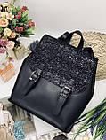 Жіноча стильна сумка; турецька еко-шкіра PU, розміри 25*28*11 см, 8 кольорів., фото 5