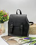 Женская стильная сумка; турецкая эко-кожа PU, размеры 25*28*11 см, 8 цветов., фото 3