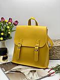 Жіноча стильна сумка; турецька еко-шкіра PU, розміри 25*28*11 см, 8 кольорів., фото 3