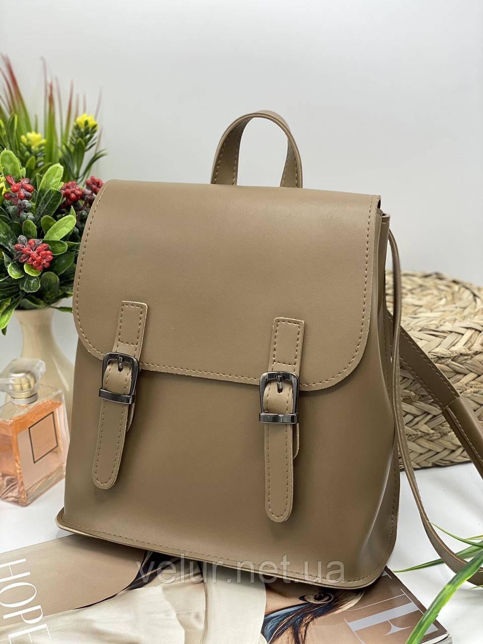 Жіноча стильна сумка; турецька еко-шкіра PU, розміри 25*28*11 см, 8 кольорів.