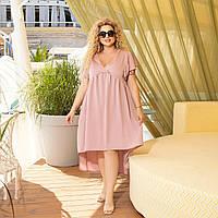 Літнє плаття, вільного фасону, на розширення від грудей фреза