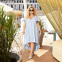 Літнє плаття, вільного фасону, на розширення від грудей блакитний