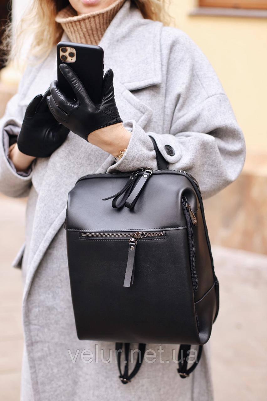 Женская стильная сумка; турецкая эко-кожа PU, размеры 21*31*8 см, 2 цвета.