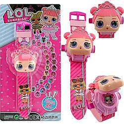 Іграшка Дитячі наручні проекційний годинник з проекцією для дівчинки з Лол сюрприз, Lol Surprise