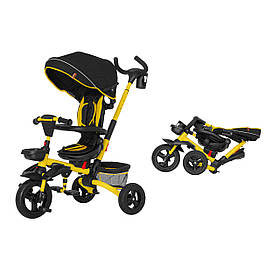 Триколісний велосипед TILLY FLIP T-390 Червоний Жовтий