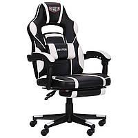 Геймерське крісло VR Racer Dexter Vector чорний/білий, TM AMF