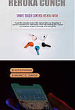 Беспроводные наушники Reroka Conch HD Stereo Bass розовые, фото 9