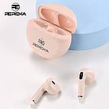 Беспроводные наушники Reroka Conch HD Stereo Bass розовые, фото 3