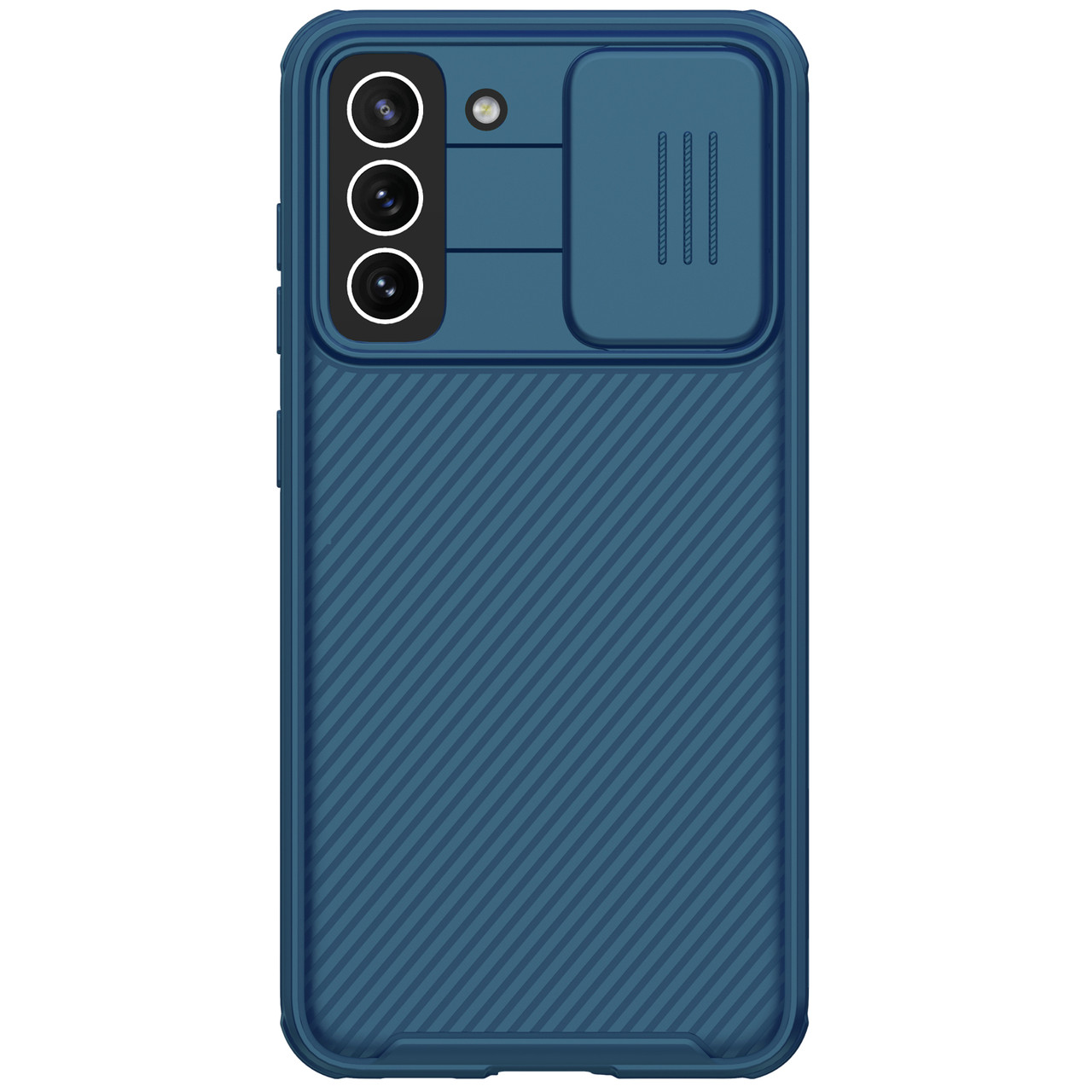 Защитный чехол Nillkin для Samsung Galaxy S21 FE 2021 (CamShield Pro Case) Blue с защитой камеры