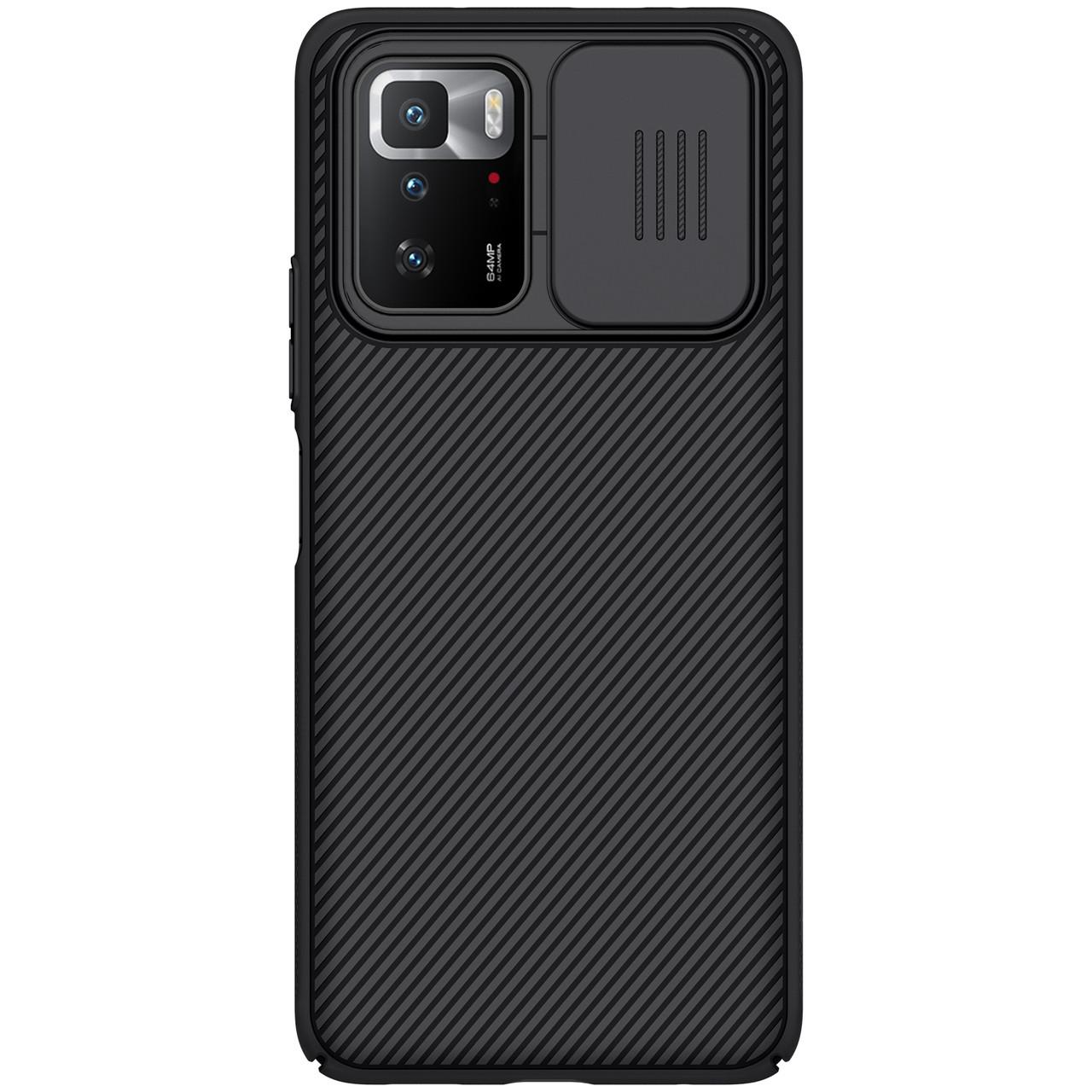 Защитный чехол Nillkin для Xiaomi Redmi Note 10 Pro 5G (CamShield Case) Black с защитой камеры