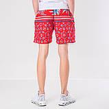 Мужские шорты (плащевка), красного цвета, фото 3
