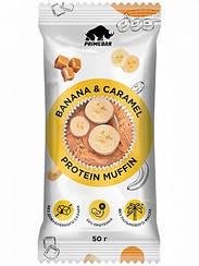Смесь для выпечки протеиновый маффин в кружке  Primebar Protein Muffin Банан и Карамель (50 грамм)