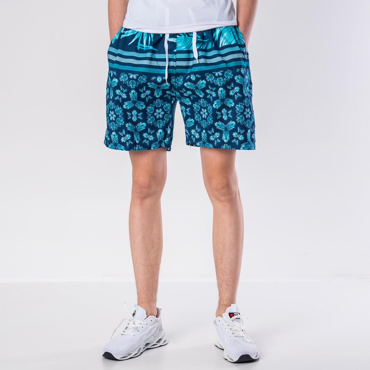 Мужские шорты (плащевка), бирюзового цвета