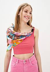 """100% шовковий платок """"цвітіння сакури в рожевому саду"""" від бренду my scarf. преміум колекція!"""