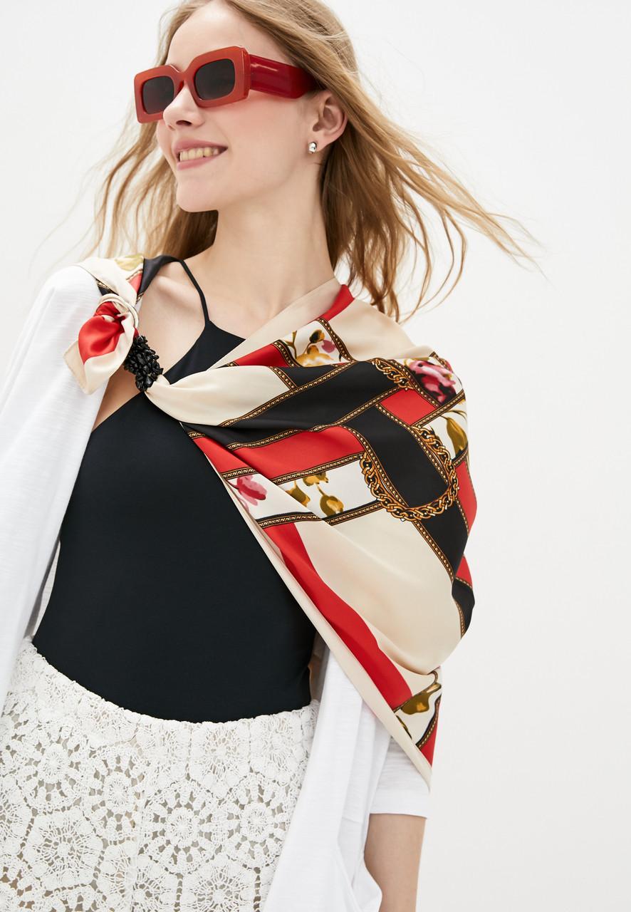 Дизайнерский платок,, венецианская история ,, от бренда my scarf, подарок женщине.