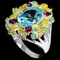 Топаз голубой серебряное кольцо, 1797КТ, фото 1