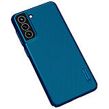 Захисний чохол Nillkin для Samsung Galaxy S21 FE 2021 Super Frosted Shield Blue Синій, фото 5