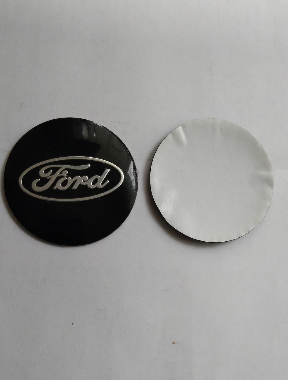 Наклейки Ford черные 56 мм для колесных колпачков в легкосплавные диски