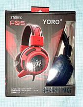 Навушники Yoro F05 з мікрофоном і регулятором гучності