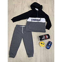 Дитячий спортивний костюм для хлопчика на флісі р. 92/98 - 110/116
