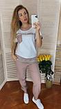 Жіночий літній костюм з брюками з льону (Туреччина); розм 50,52,54, фото 4
