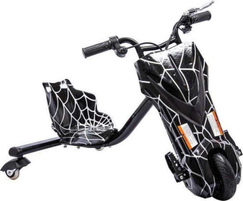 """Дріфт карт Windtech Crazy Bug 8"""" Павутина   електроскутер (LED фари і підсвічування, 350 W, 3 швидкості, IP56)"""