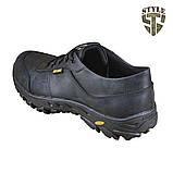 Кросівки тактичні 20-01V шкіряні чорного кольору, фото 4