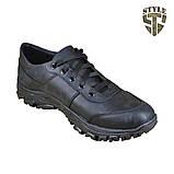 Кросівки тактичні 20-01V шкіряні чорного кольору, фото 5