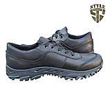 Кросівки тактичні 20-01V шкіряні чорного кольору, фото 3