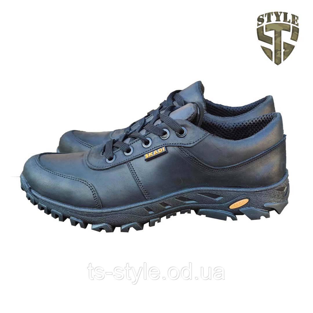 Кросівки тактичні 20-01V шкіряні чорного кольору