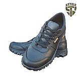 Кросівки тактичні 20-01V шкіряні чорного кольору, фото 2