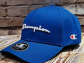 Жіноча чоловіча бейсболка кепка чемпіон в синьому кольорі