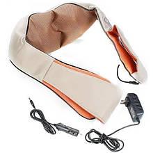 Роликовий масажер для спини і шиї, попереку Massager of neck kneading Original 12V 24W