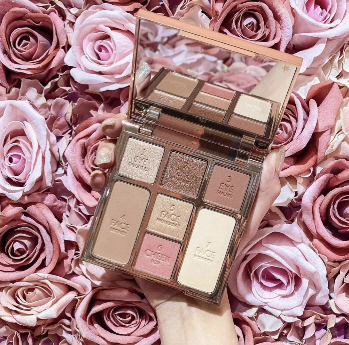 Палетка для лица Charlotte Tilbury Instant Look of Love in Palette Pretty Blushed Beauty