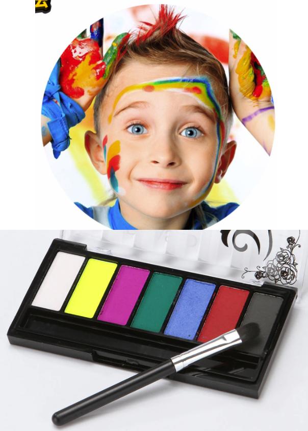 Аквагрим 8 цветов, краски для бодиарта, краски на водной основе