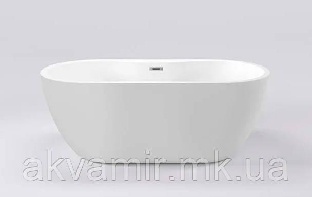 Ванна Dusel DU111 Sarno, 1800x750 мм акриловая белая отдельностоящая
