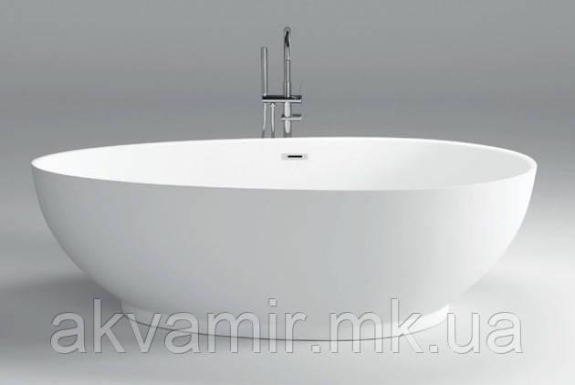 Ванна Dusel DU106 Pisa, 1800x900 мм акрилова біла окремостояча