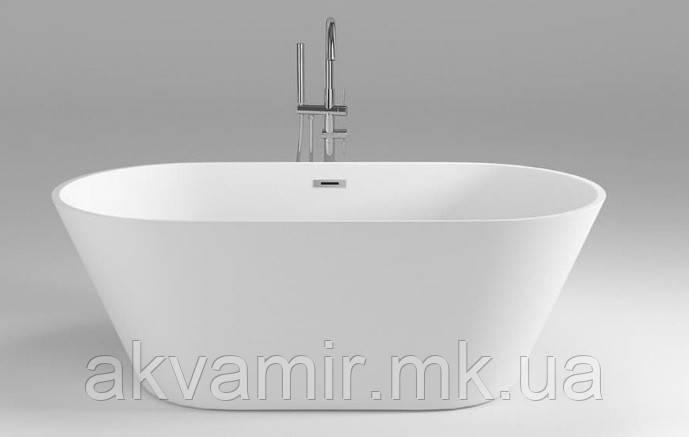 Отдельностоящая ванна акрилова з ніжками Dusel DU103, 1700х800х580 мм