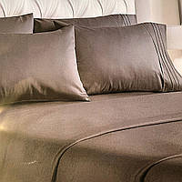 """""""серое однотонное"""" Комплект постельного белья полуторный 150/210 см, нав-ки 70/70, ткань сатин"""