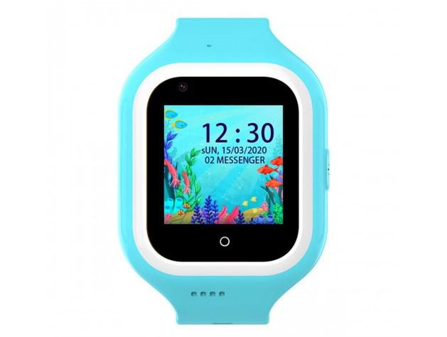 Розумні дитячі GPS годинник Wonlex Smart Baby Watch KT21 (4G) Блакитні